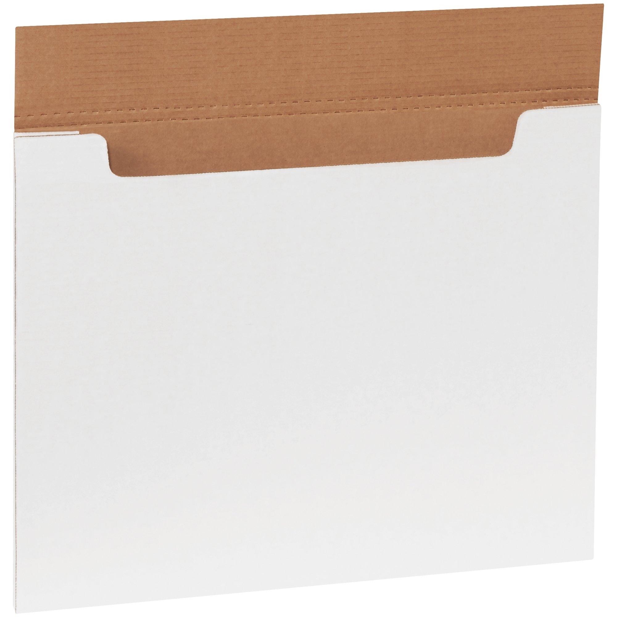 Aviditi M201614 Corrugated Jumbo Fold-Over Mailer, 20'' Length x 16'' Width x 1/4'' Height, White (Bundle of 20)