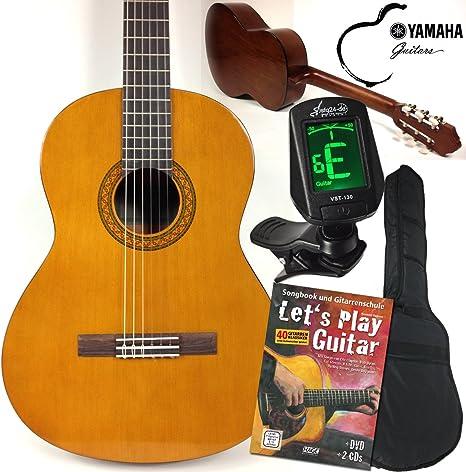 Yamaha C40 Clásica / Guitarra Clásica Principiantes Set con, sfq24 ...