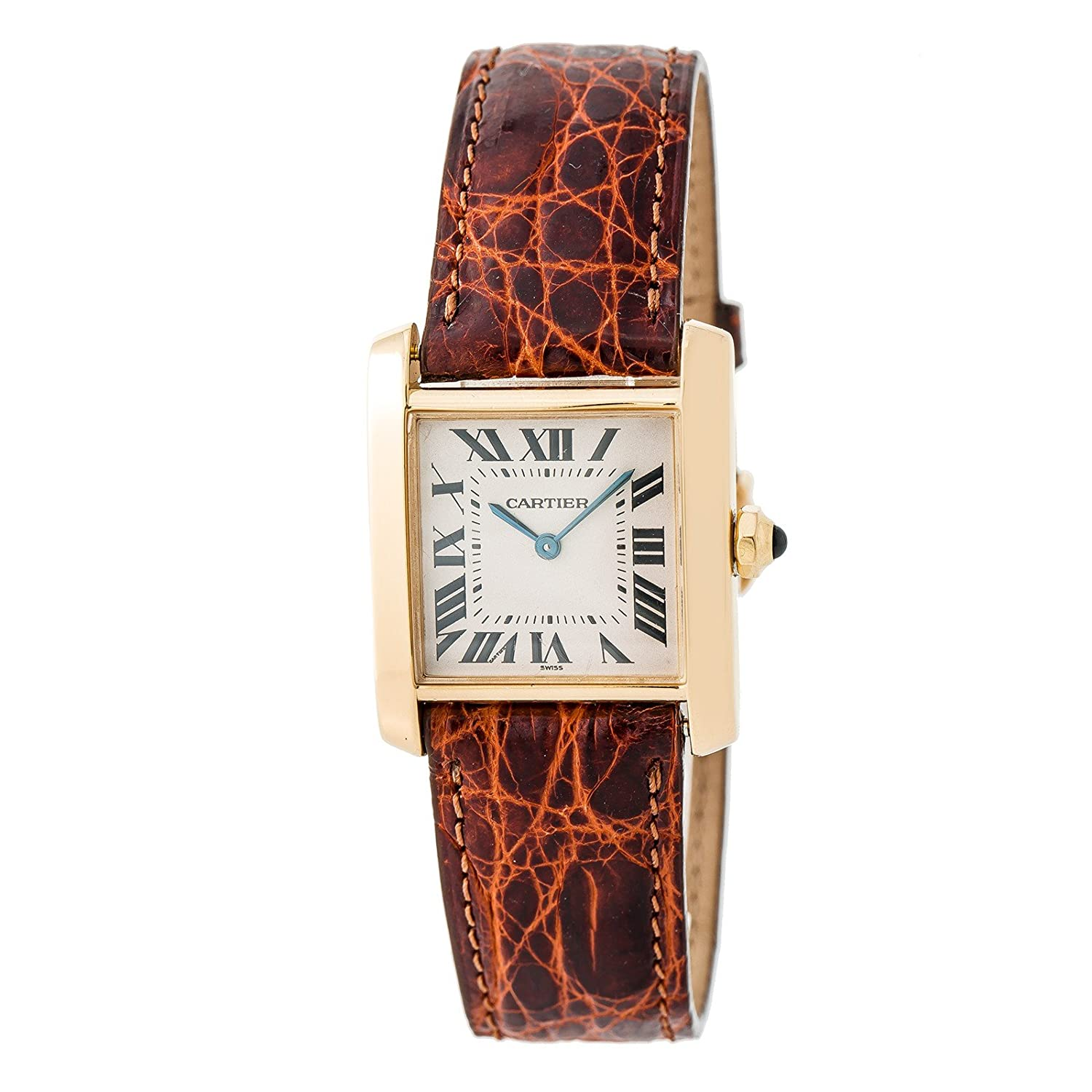Amazon.com: Cartier Tank Francaise Quartz Womens Watch 1821 (Certified Pre-Owned): Cartier: Watches