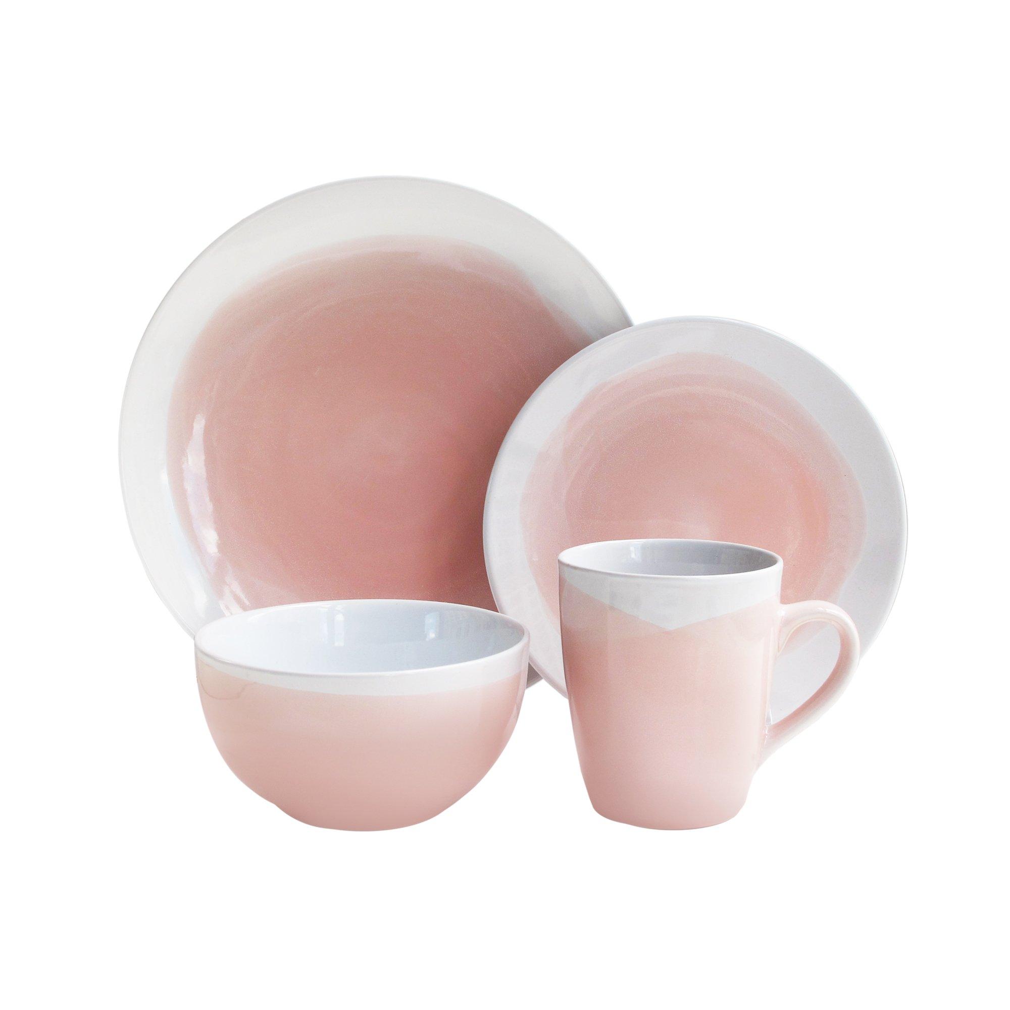 American Atelier 6693-16-RB Oasis Set Dinnerware, Pink