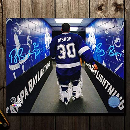 Ben Bishop Signed Photo - WHITE JERSEY 16X20 - Autographed NHL ... 76500d703