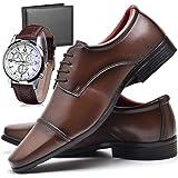 Kit Sapato Social Masculino com Relógio e Carteira ZARU 807