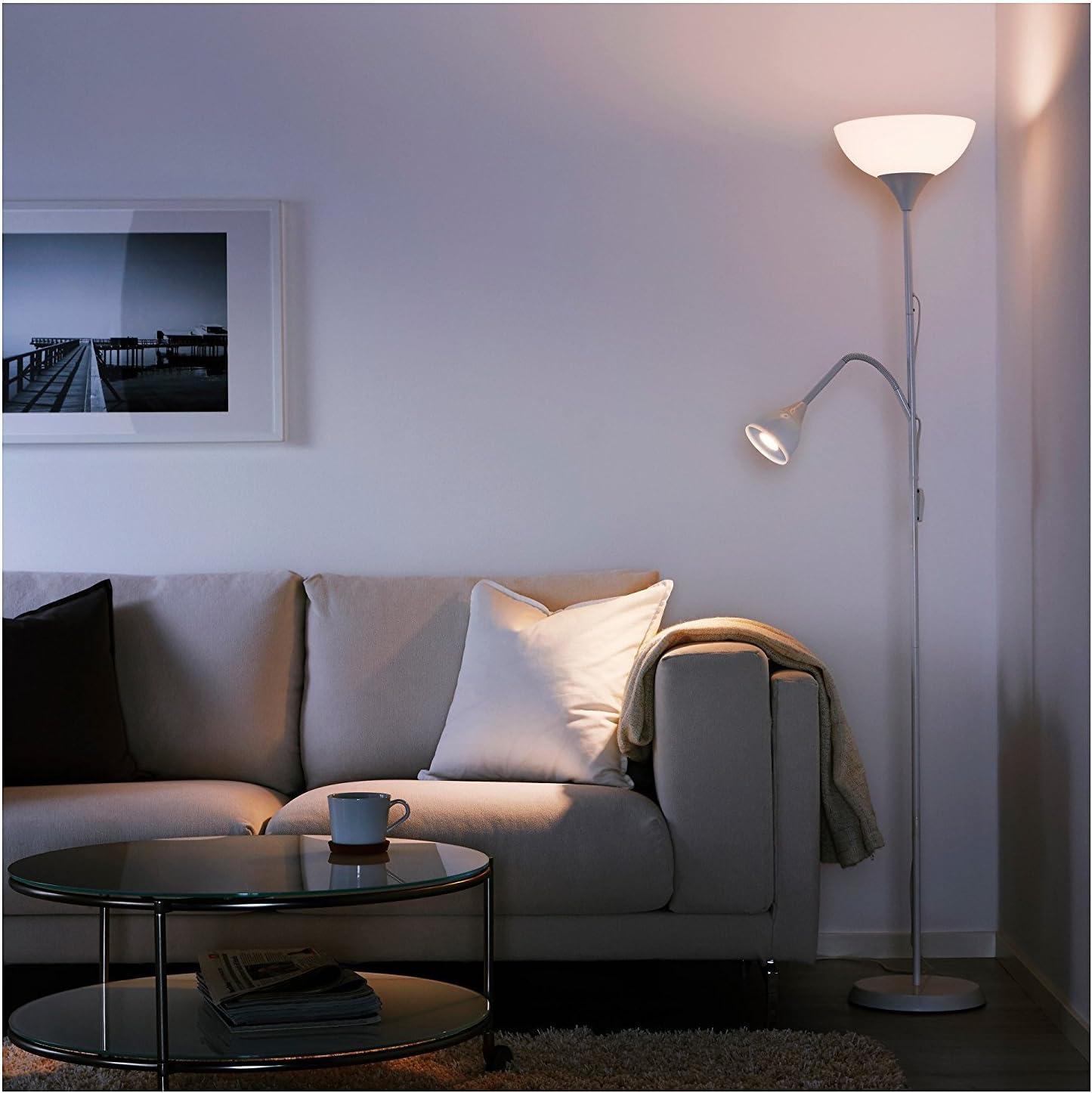 Ikea Uplighter Reading Lamp 175 Cmx 27cmx 28cm White Amazon Co Uk