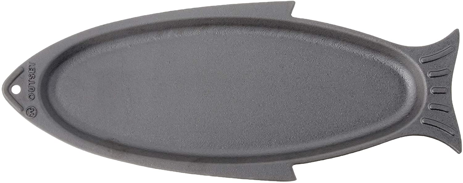 Outset 76376 Fish Cast Iron Grill and Serving Pan