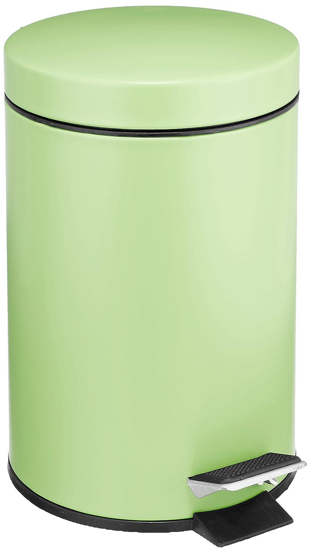 Wenko poubelle de salle de bain à pédale verte 3 litres: amazon.fr ...