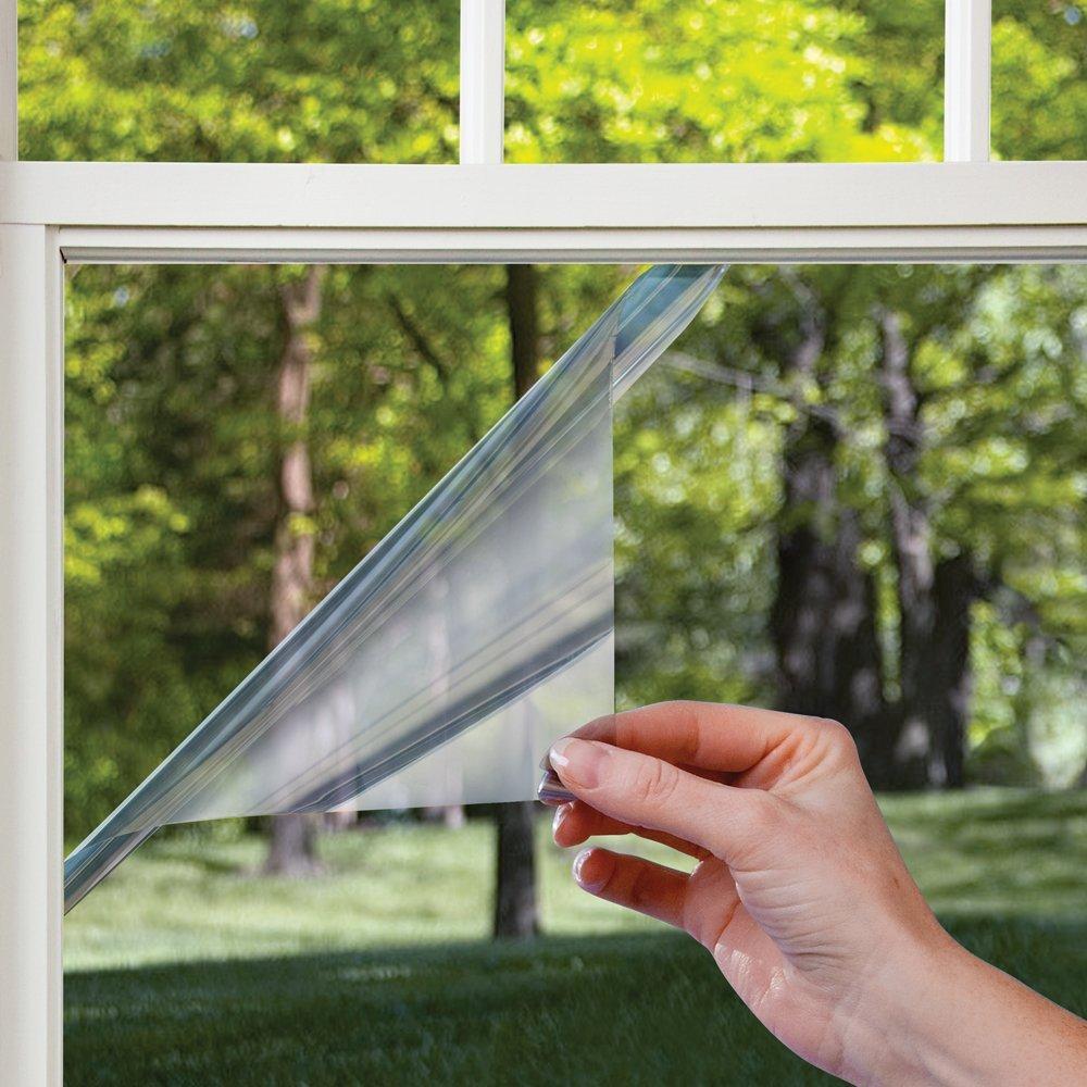 Gila Heat Control Light Gray Adhesive Residential DIY Window Film Sun Blocking 3ft x 15ft (36in x 180in) (Renewed) by Gila