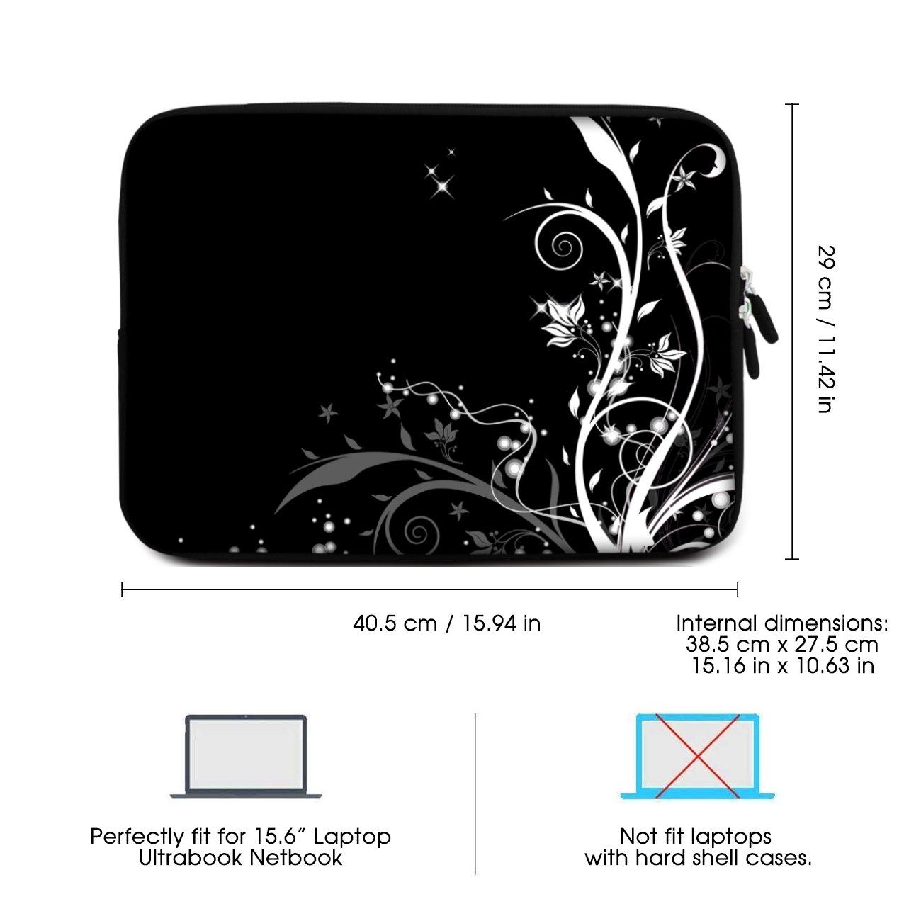 Sidorenko 15-15,6 Pulgada Funda para Laptop   Caja del Cuaderno Neopreno   Caja del Ordenador portátil Cremallera Duradera Protección de 3 Capas, ...