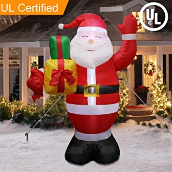 Image Unavailable - Amazon.com: Aparty4u 5FT Christmas Yard Inflatable Santa Claus With