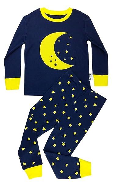 Floorey Pijamas Luna & estrellas Set de 2 Piezas 100% algodón 86 (12-