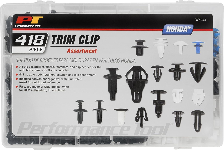 418 de clip herramienta de recorte del Panel Parachoques Fender Retenedor Surtido Kit De Reparación Para Honda