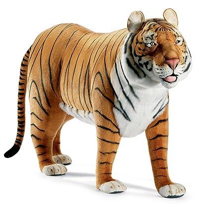 Amazon Com Life Size Standing Tiger Plush Stuffed Animal Toys Games