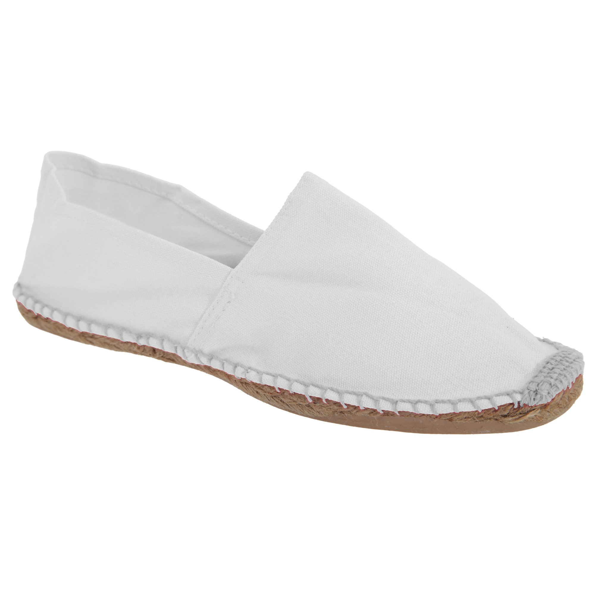 B&C Paradise Mens Vibrant Espadrille Shoes (8 US) (White)