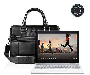 Funda Bolsa Maletín portátil para Google Pixelbook Touchscreen Chromebook 12 3 en Negro Cuero: Amazon.es: Electrónica