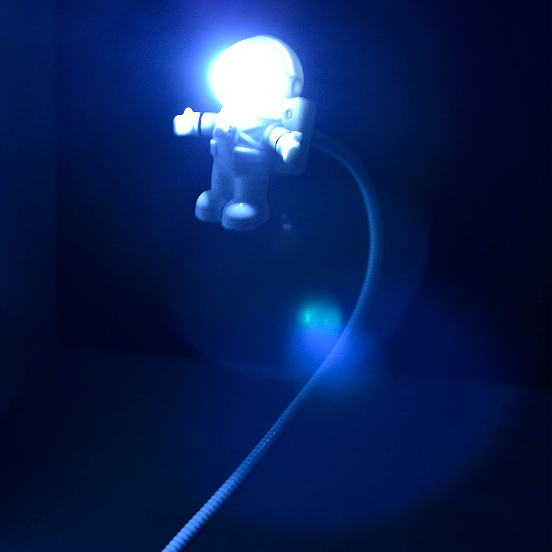 kreativer Astronauten//Astronauten//LED-Licht Mini-Nachtlicht flexibler Schlauch 2 St/ück USB-Leselampe USB-Licht f/ür Laptop flexibel Notebook USB-Ladeanschluss-Design Computer Tastatur-Licht