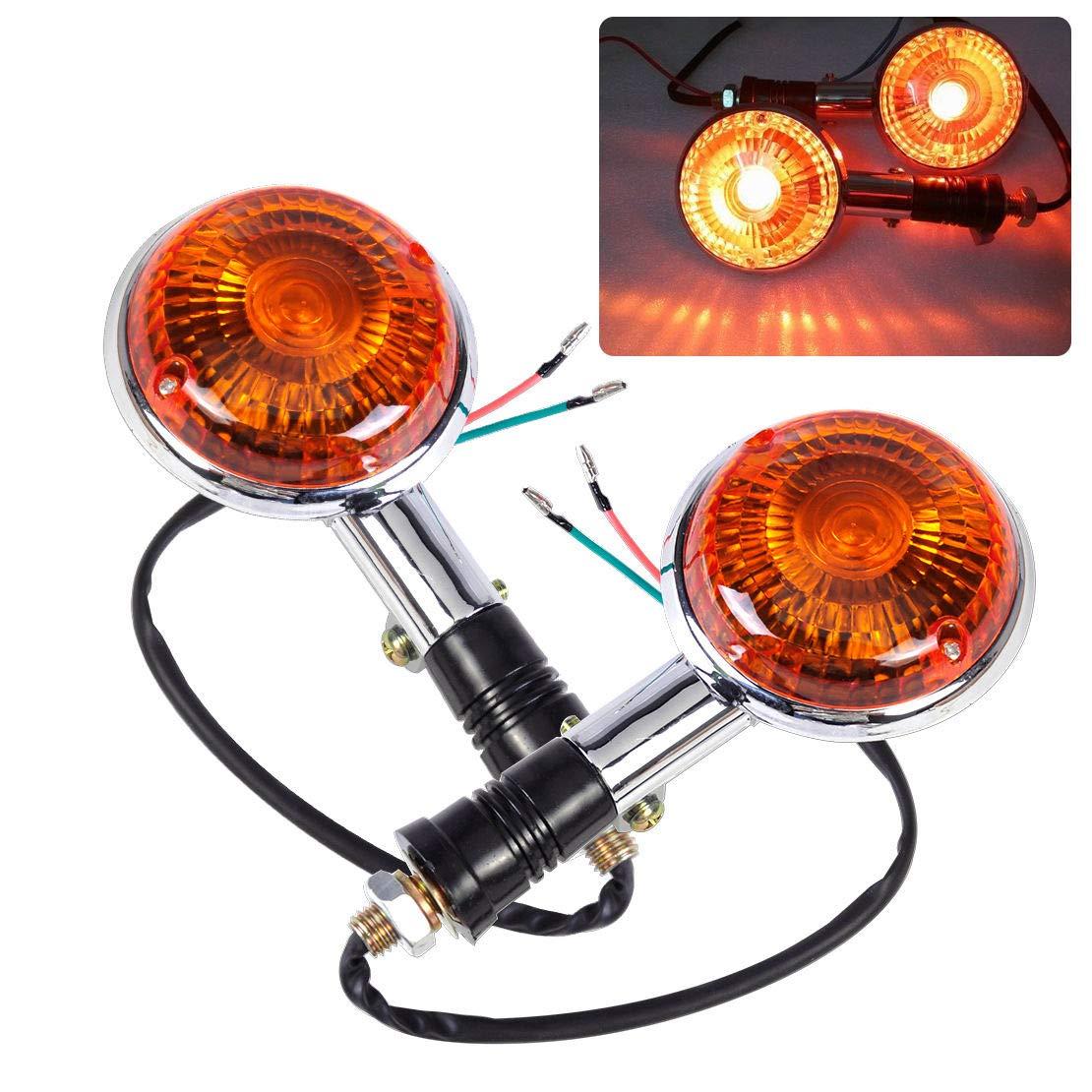 2X Amber Turn Indicator Signal Light Blinker Lens For Yamaha Virago 85-99