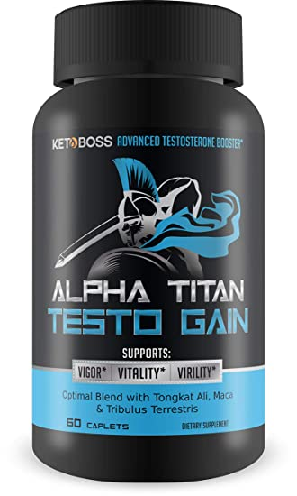 Alpha Titan Testo Gain - Advanced Testosterone Booster - Unleash Your Inner  Spartan with Powerful