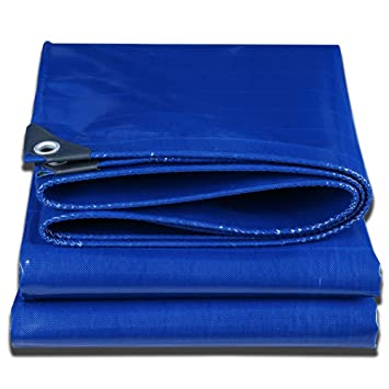QIANGDA Lona De Protección Piscina PVC Cobertizo De Graneros Impermeable Resistencia Rotura Protector Solar Prueba Polvo -500G/M², Azul, ...
