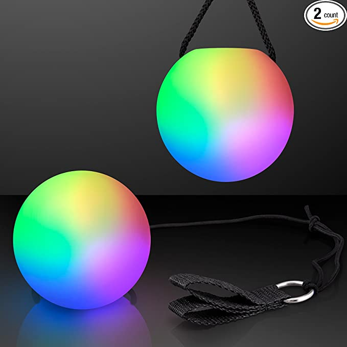 Details about  /Fully LED Multi-Coloured Glow POI Thrown Balls Light Up For Dance Hand Prop GW