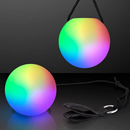 Amazon.com: LED Poi bola Swirling Luz Rave Toy (Set de 2 ...