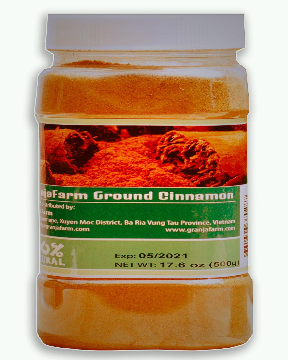 GranjaFarm Ground Cinnamon 17.6 Oz (500g)