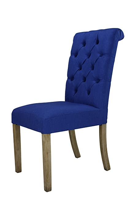 Groovy Amazon Com Lux Home Linen Parsons Rolled Back Dining Chair Ncnpc Chair Design For Home Ncnpcorg