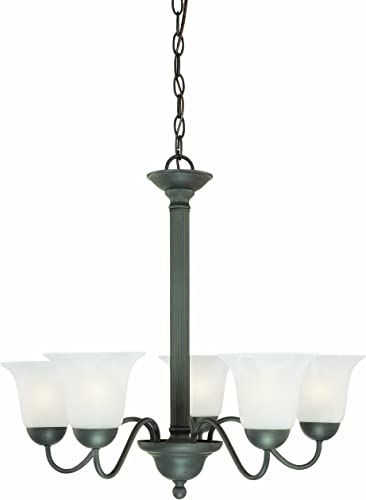 Thomas Lighting SL881163 Riva Collection 5 Light Chandelier, Painted Bronze