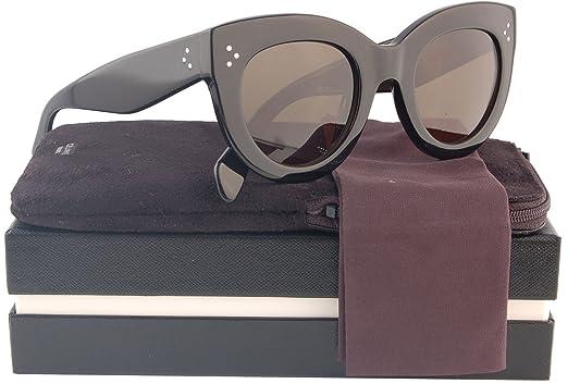 Amazon.com: Celine 41050/S – Gafas de sol Negro Brillante W ...