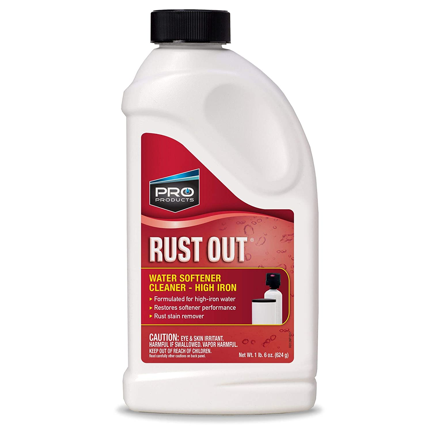 PRO RUST OUT Water Softener Cleaner and Rust Remover. Maintains Performance of Water Softeners with Hard Water