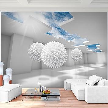 Fototapete 3 D fototapete 3d blau 352 x 250 cm vlies wand tapete wohnzimmer
