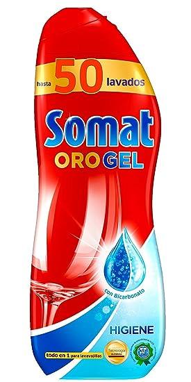 Somat Oro Gel Lavavajillas Higiene 50 Dosis: Amazon.es: Salud y ...