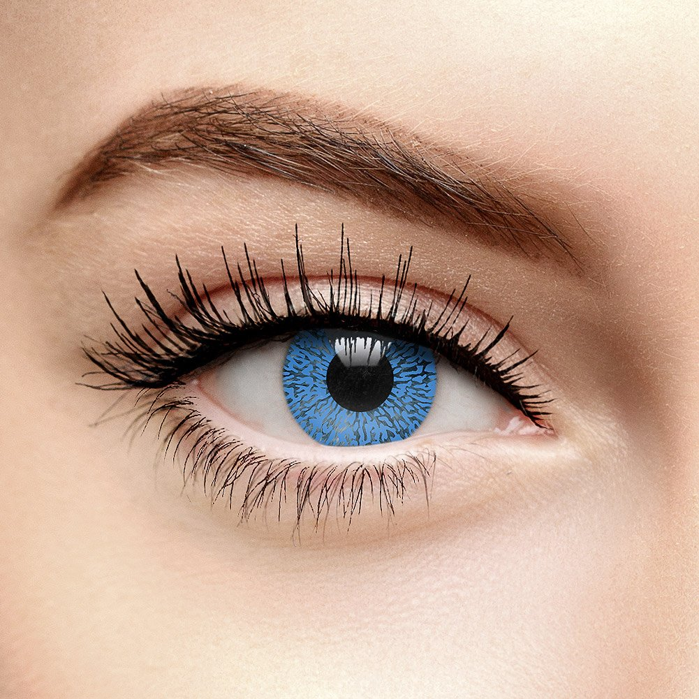 Lenti A Contatto Non Correttive Colorate Blu Sapphire One Tone (90 Giorni) Coloured Contacts