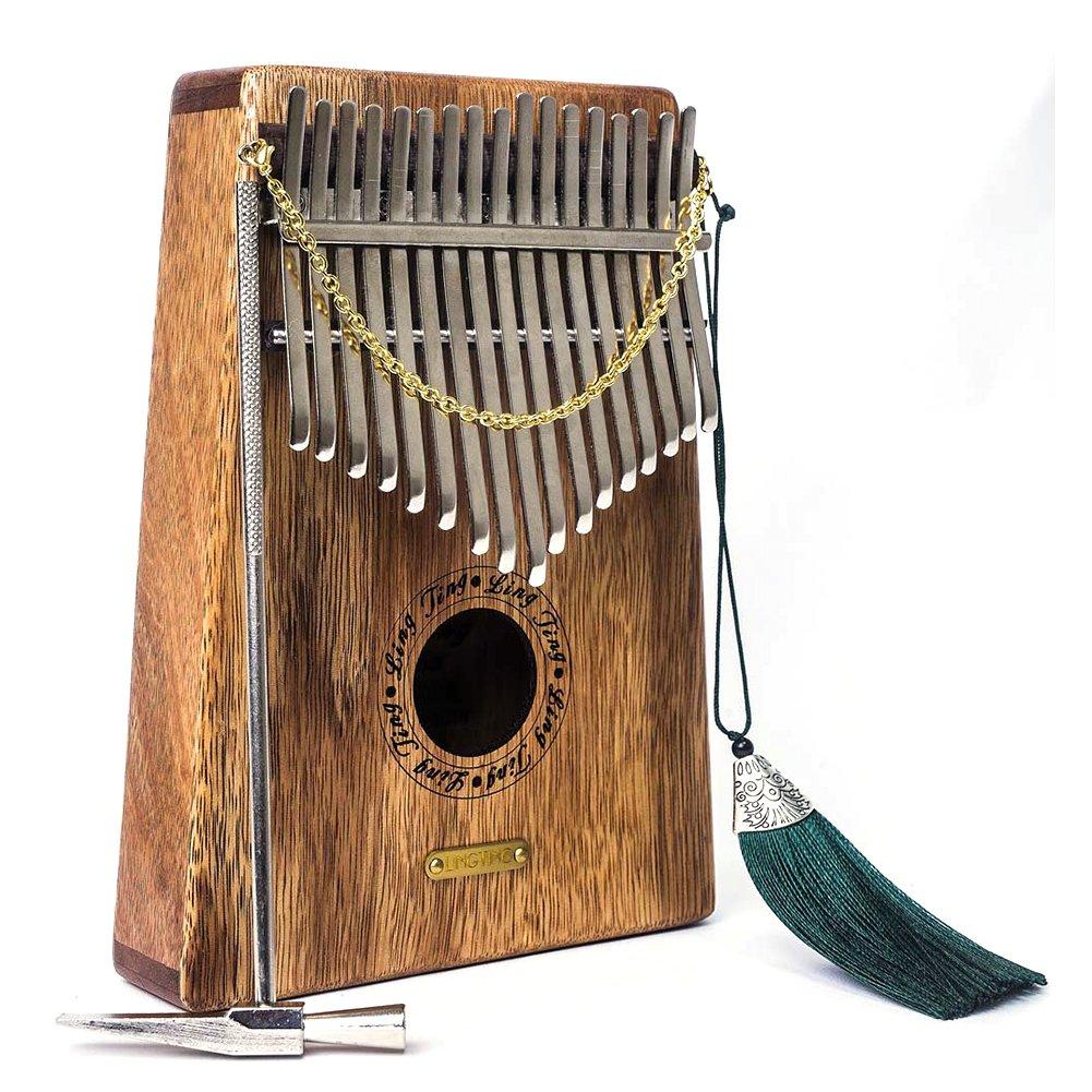 Kalimba 17 Keys Thumb Piano builts-in EVA high-performance protective box, tuning hammer and study instruction. Dr.OX M-C