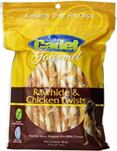 Chicken Hide Dog Treats 5 inches Pack of 50 Flavor Chicken Size Pack of 3