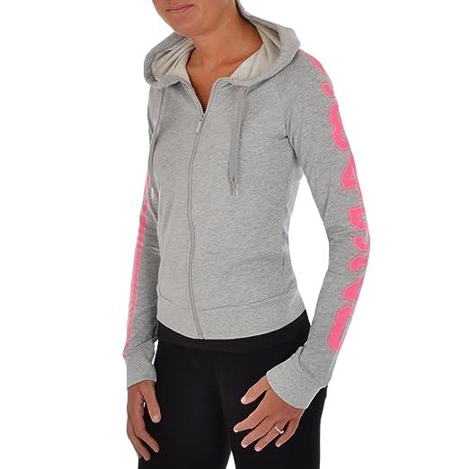 adidas NEO para mujer 3 diseño de rayas sudadera con cremallera y capucha: Amazon.es: Ropa y accesorios