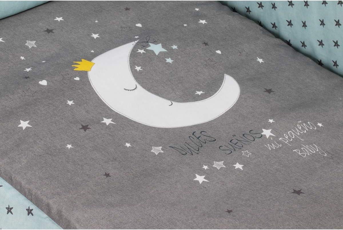 Interbaby Lit Lovely et coordonn/é Luna Menta Interbaby 125 x 64 x 93 cm
