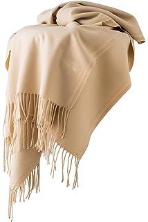 Dolamen Unisex Femme Echarpe Foulards avec des glands, Femme Léger et doux  luxueux Vintage Hiver 75036bf0248