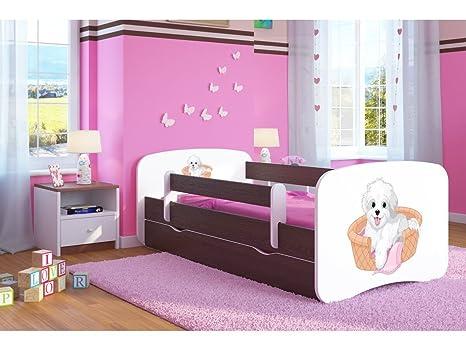 CARELLIA Cama Infantil Perro pequeño 70 cm x 140 cm, con Barriere Zapatillas