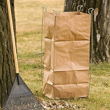 Amazon.com: Soporte de metal para bolsas de plástico y papel ...