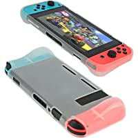 Protective Case for Nintendo Switch - TPU Shock-Absorption Anti-Scratch Handle Design - Full Protection Soft Cover Case for Nintendo Switch, White