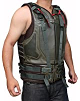 Green Military Mens Leather Vest ►BEST SELLER◄