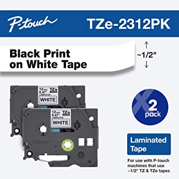 "10 PK TZe-631 TZ 631 Black On Yellow Label Tape For Brother P-Touch 1//2/"" x 26ft"