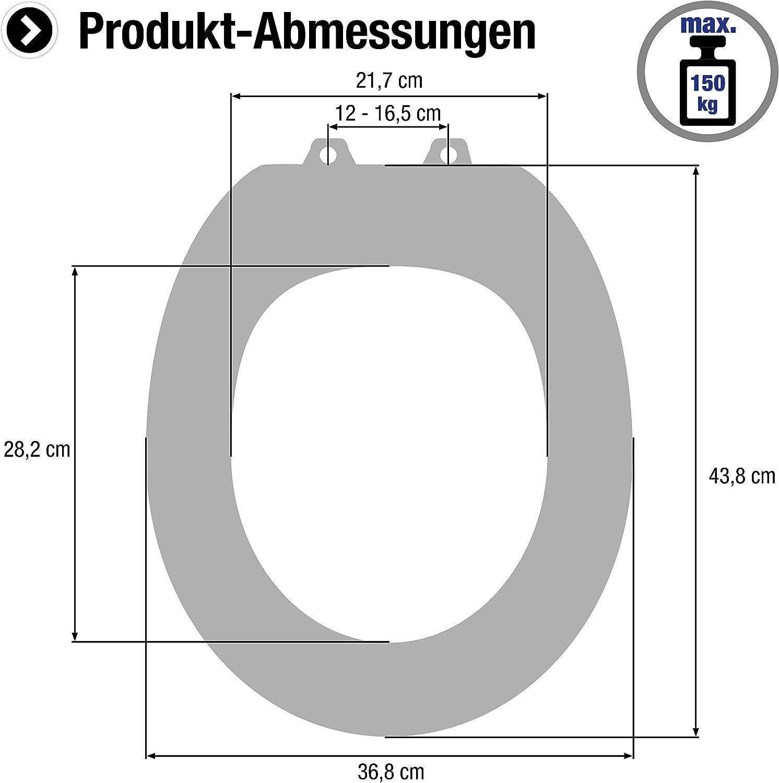 Hochwertiger Holzkern Cornat WC-Sitz Herz Ansprechendes Design Komfortables Sitzgef/ühl // Toilettensitz // Klodeckel // KSD811