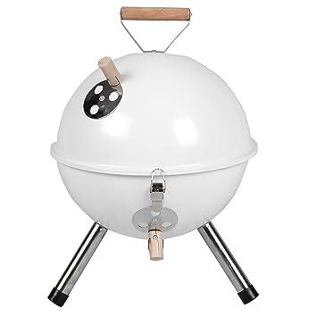 Nexos Mini Barbacoa barbacoa de carbón vegetal Barbacoa para jardín Terraza camping festival Picnic BBQ Barbecue Diámetro 30 cm, weiß: Amazon.es: Jardín
