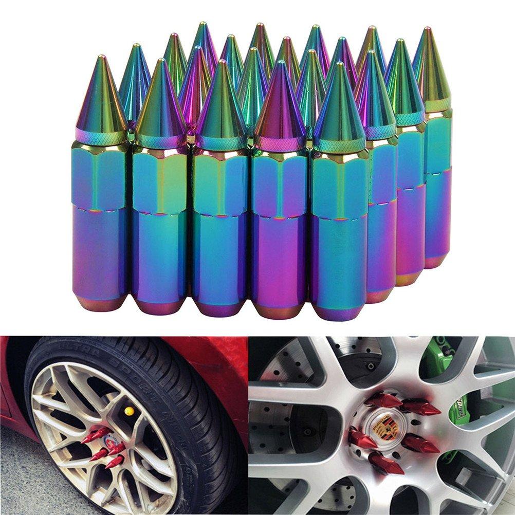 EKYAOMEI 20 tuercas de aluminio para rueda de 60 mm tuercas extensibles de repuesto 12 x 1,5//1,25 tuercas hexagonales