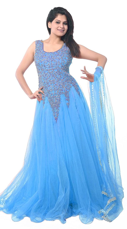Dress in blue color