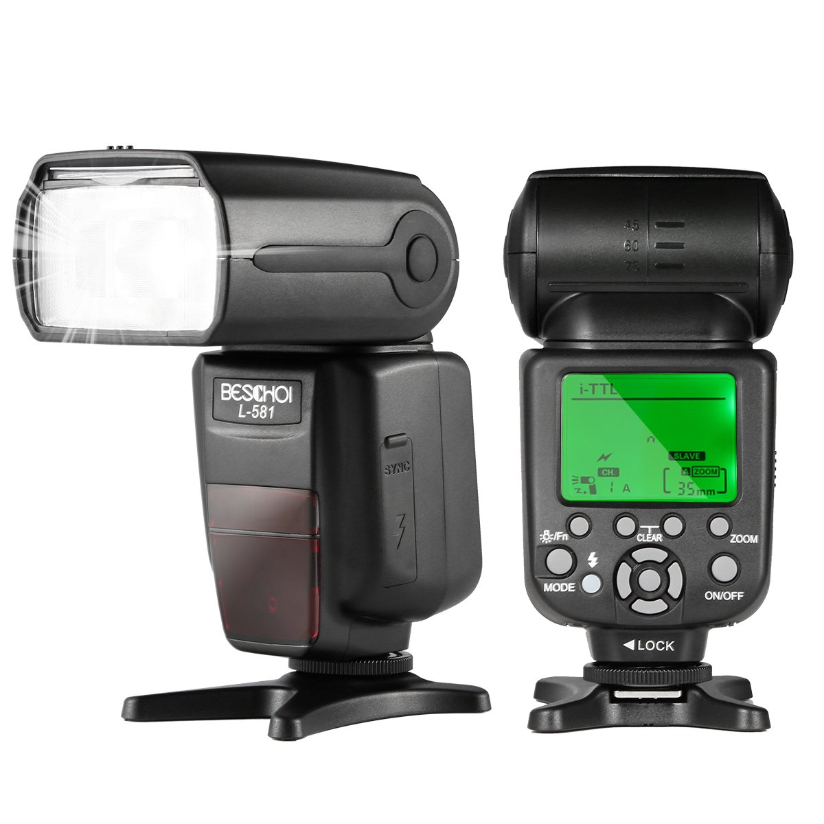 Beschoi I-TTL Speedlite Flash Professional Camera Flash with Master / Slave Wireless Control, High Speed Sync for Nikon DSLR Camera
