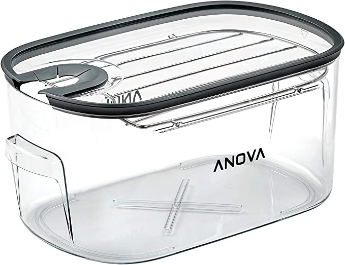 Amazon.com: Anova Culinary ANTC01 Sous Vide Cooker Cooking container, Holds Up to 16L of Water, With Removable Lid and Rack: Kitchen & Dining