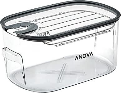 Anova Culinary | Sous Vide Cooker Cooking Container & Lid | Accessory | Holds up to 16 Liters of Water | With Removeable Lid and Rack