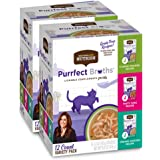 Rachael Ray Nutrish Purrfect Broths Wet Cat Food Complement, 1.4 Ounce Pouch (Pack of 24), Grain Free (Packaging May Vary)