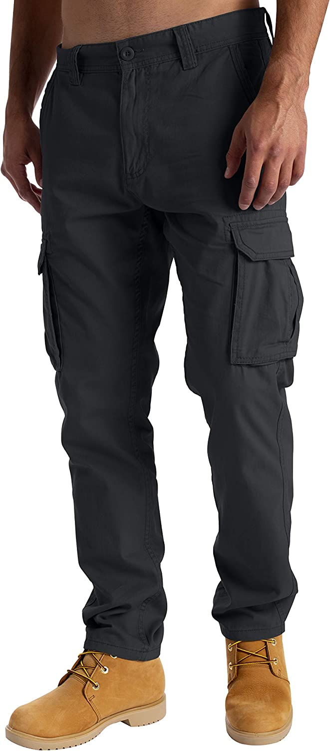 West Ace Mens Cargo Combat Work Trousers Casual Pants with Knee Pad Pockets Workwear 100/% Cotton Trousers